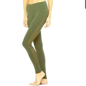 Alo yoga pants- dark green and black pair